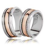 Bicolore Eheringe – Zweifarbige Ringe im Trend